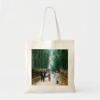 Rickshaw on the Road to Kyoto Japan Vintage Tote Bag
