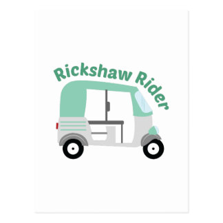 Rickshaw Rider Postcard