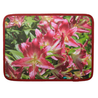 Rickshaw Sleeve Bright Pink Flowers