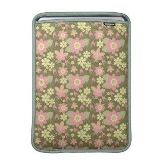 Rickshaw Sleeve MacBook Air Pink Yellow Floral MacBook Sleeve