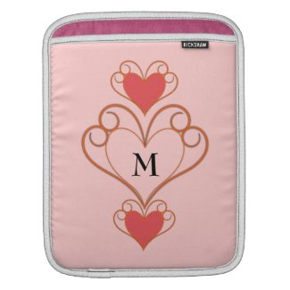 Rickshaw Sleeve with heart ornament and monogram