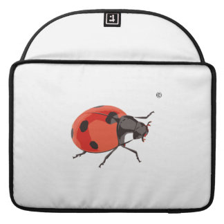"Rickshaw small pocket with reduction ""bugs "" MacBook pro sleeve"