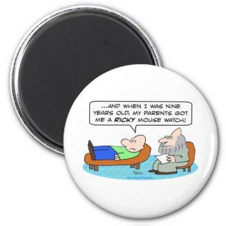 ricky mouse watch psychiatrist magnet