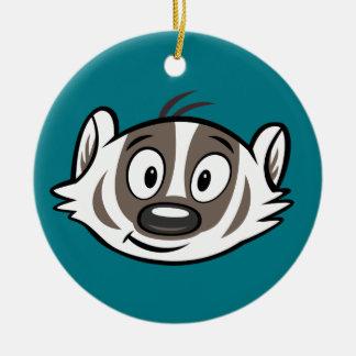 Ricky Raccoon | Boomer Badger Face Ceramic Ornament