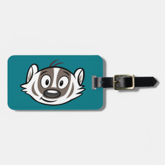 Ricky Raccoon | Boomer Badger Face Luggage Tag