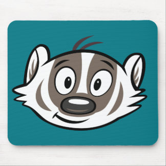 Ricky Raccoon | Boomer Badger Face Mouse Pad