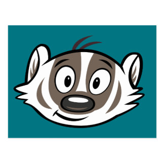 Ricky Raccoon | Boomer Badger Face Postcard