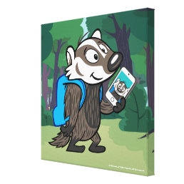 Ricky Raccoon | Boomer Badger Selfie Canvas Print