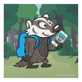 Ricky Raccoon | Boomer Badger Selfie Panel Wall Art