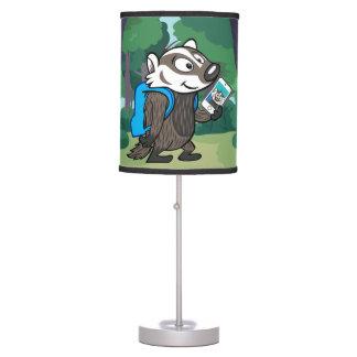 Ricky Raccoon | Boomer Badger Selfie Table Lamp