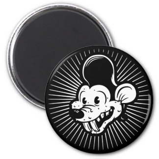 Ricky Rodent 2 Inch Round Magnet