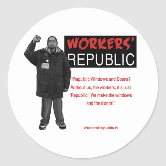 Ricky: Without us it's just Republic Sticker
