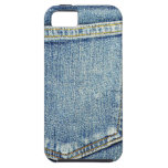 Ricos azules de la moda del estilo de la tela del  iPhone 5 funda