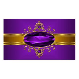 Ricos reales 2 del oro amarillo de la joya adornad tarjetas de visita