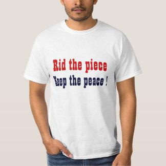 Rid the peace keep the peace t-hirts tee shirt