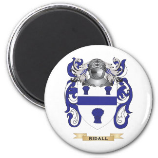 Ridall Coat of Arms (Family Crest) 2 Inch Round Magnet