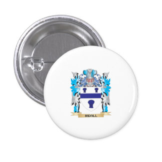 Ridall Coat of Arms - Family Crest Pinback Buttons