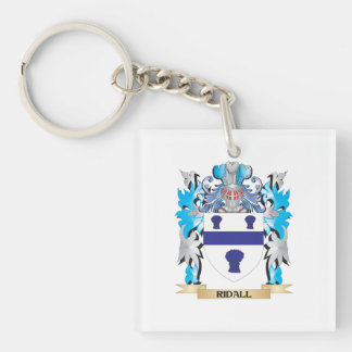 Ridall Coat of Arms - Family Crest Single-Sided Square Acrylic Keychain