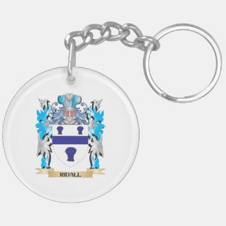 Ridall Coat of Arms - Family Crest Double-Sided Round Acrylic Keychain