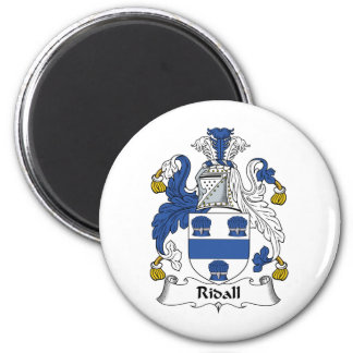 Ridall Family Crest 2 Inch Round Magnet