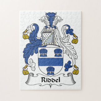 Riddel Family Crest Jigsaw Puzzles