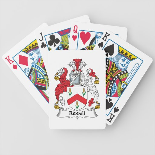 Riddell Family Crest Bicycle Playing Cards