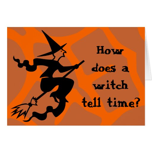 Riddle Halloween Witch Greeting Card