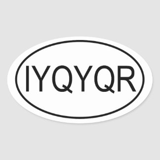 Riddle IYQYQR Euro Sticker