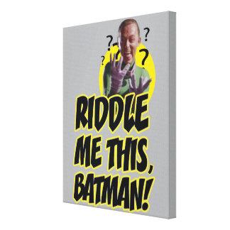 Riddle Me This Batman Canvas Print