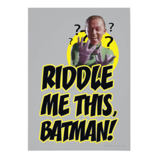 Riddle Me This Batman Card