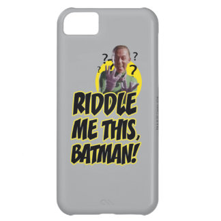 Riddle Me This Batman Cover For iPhone 5C