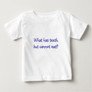 Riddle Me T's-What has teeth but cannot eat? T-shirt