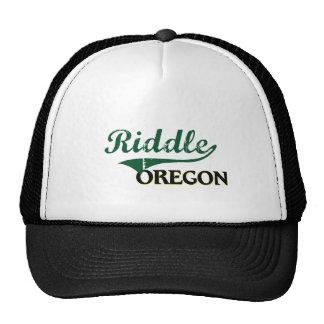 Riddle Oregon Classic Design Trucker Hats
