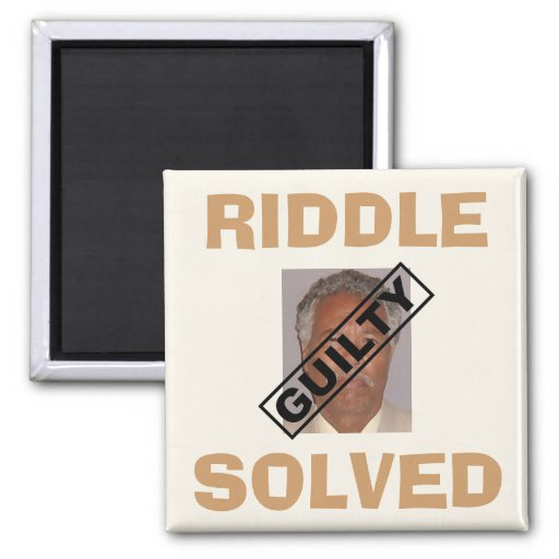 Riddle Solved! 2 Inch Square Magnet