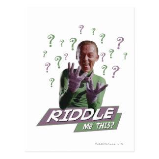 Riddler - hábleme enigmáticamente esto tarjetas postales