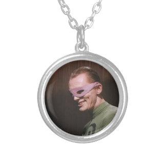 Riddler - Masked Round Pendant Necklace