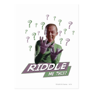 Riddler - Riddle Me This Postcard