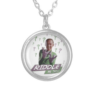 Riddler - Riddle Me This Silver Plated Necklace