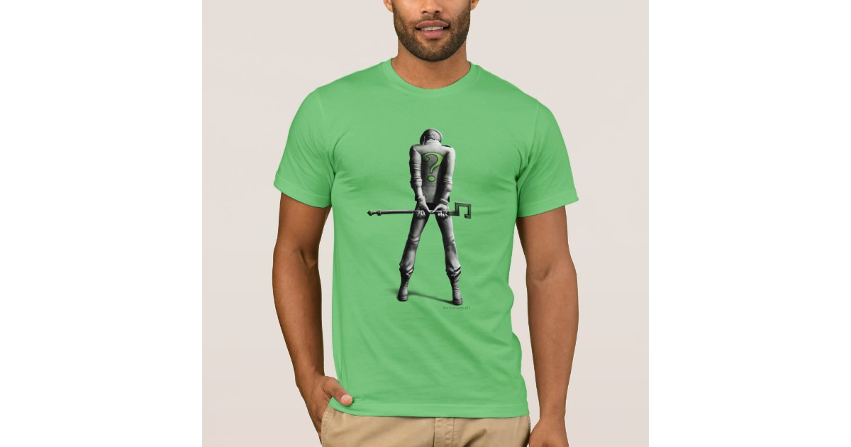 Riddler t shirt zazzle for Riddler t shirt with bats