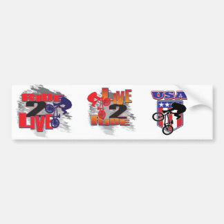 Ride 2 Live BMX Biker Bumper Sticker