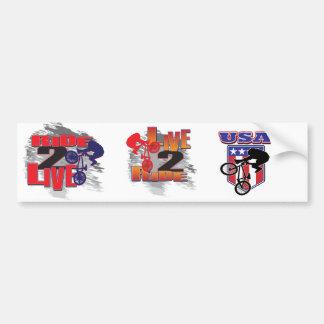 Ride 2 Live BMX Biker Car Bumper Sticker