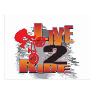 Ride 2 Live BMX Biker Postcard