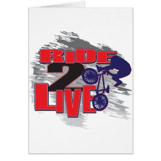 Ride 2 Live Live 2 Ride BMX rider Greeting Card