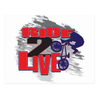 Ride 2 Live Live 2 Ride BMX rider Postcard