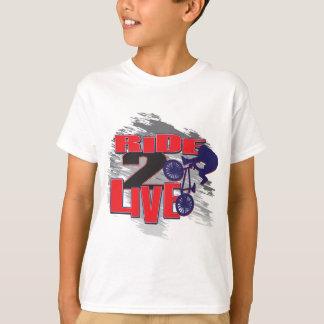 Ride 2 Live Live 2 Ride BMX rider T-Shirt