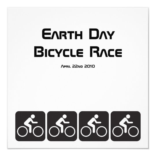 Ride A Bicycle Earth Day Bicycle Race Invitation