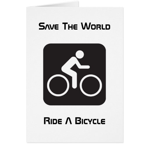Ride A Bicycle Greeting Card