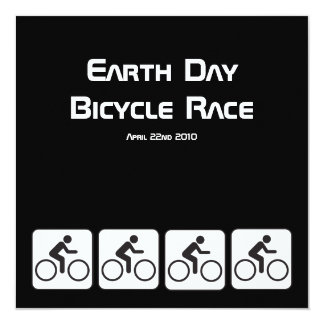 Ride A Bicycle Negative Earth Day Race Invitation