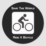 Ride A Bicycle Negative Sticker