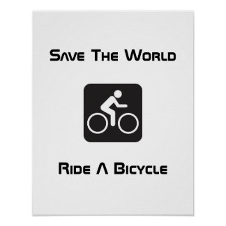 Ride A Bicycle Poster